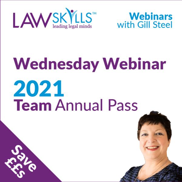 2021 Wednesday Webinar Annual Pass