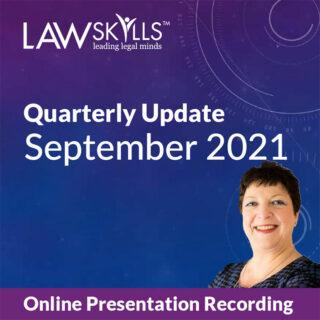 September 2021 LawSkills Quarterly Update